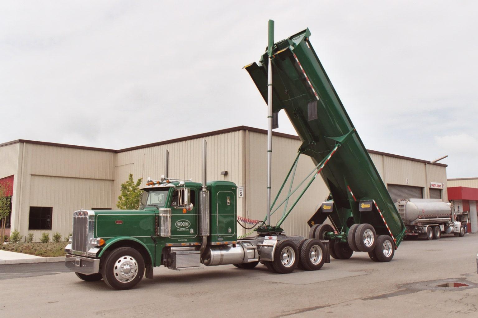 End Dump Truck >> Reliance Trailer End Dumps